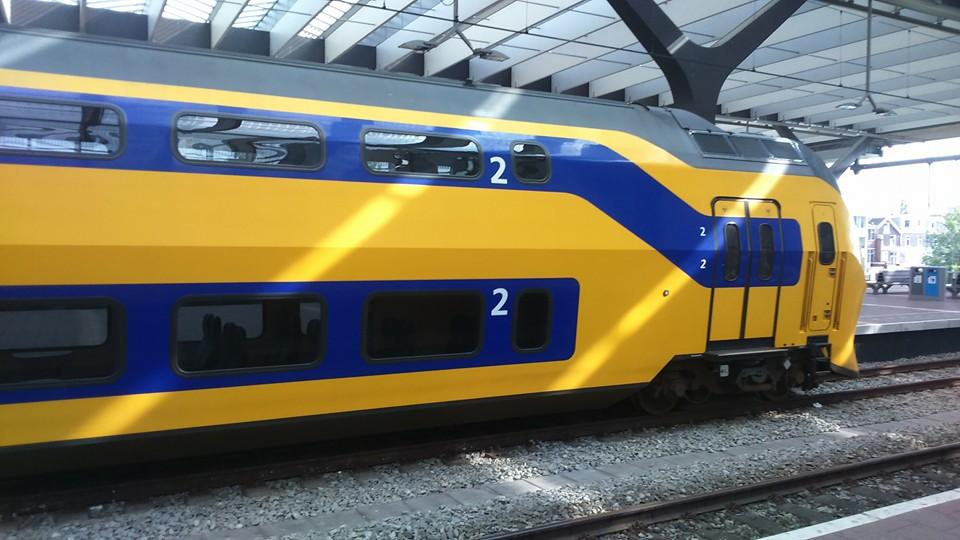 A Dutch double decker train.