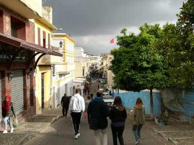 Wondering around the medina on the walking tour