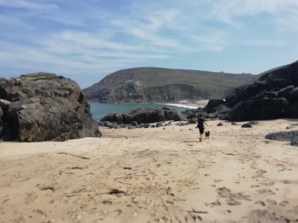 The secret cove beach in Pendeen, Cornwall.