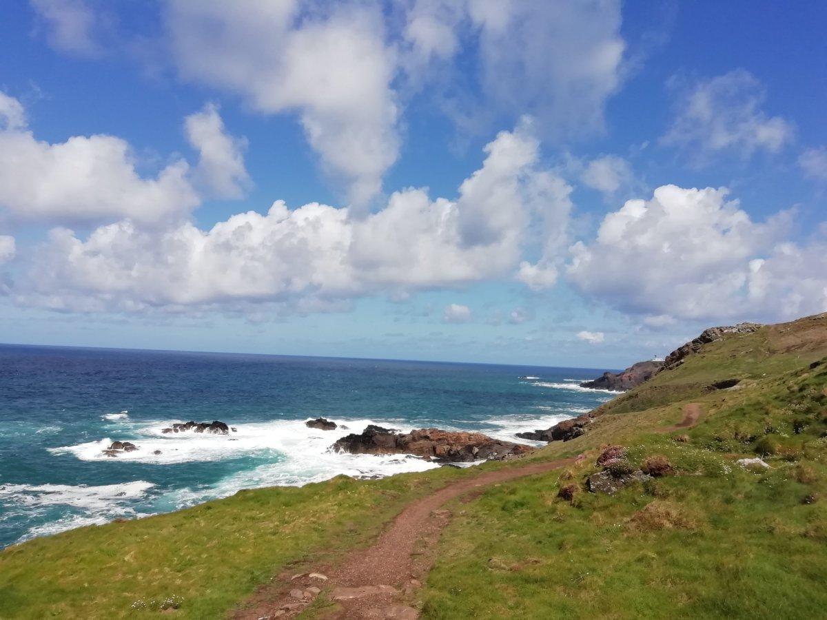 Geevor to Pendeen lighthouse coast path walk, Cornwall