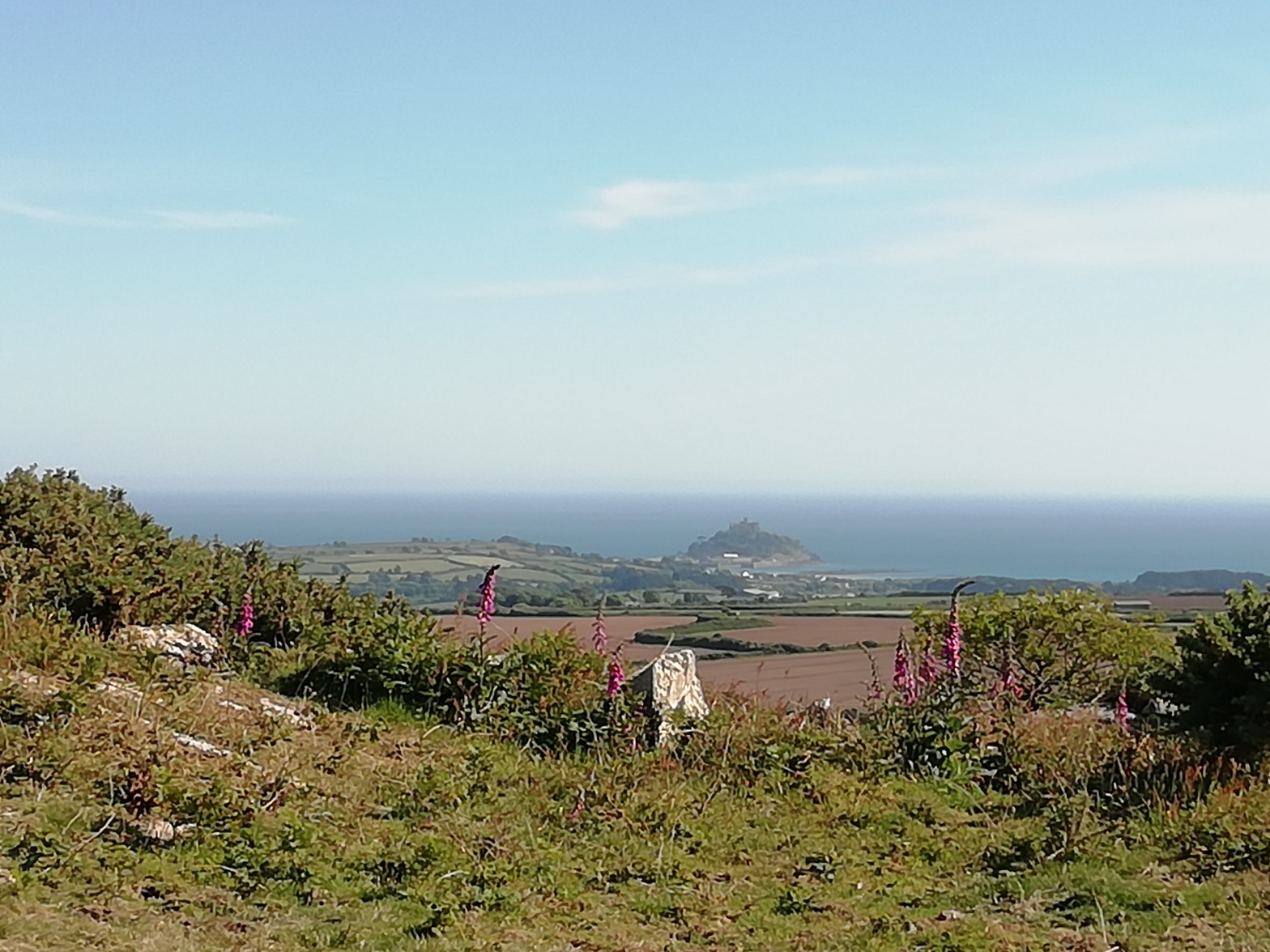 St Michael's Mount, Cornwall, View from Trencrom Hill
